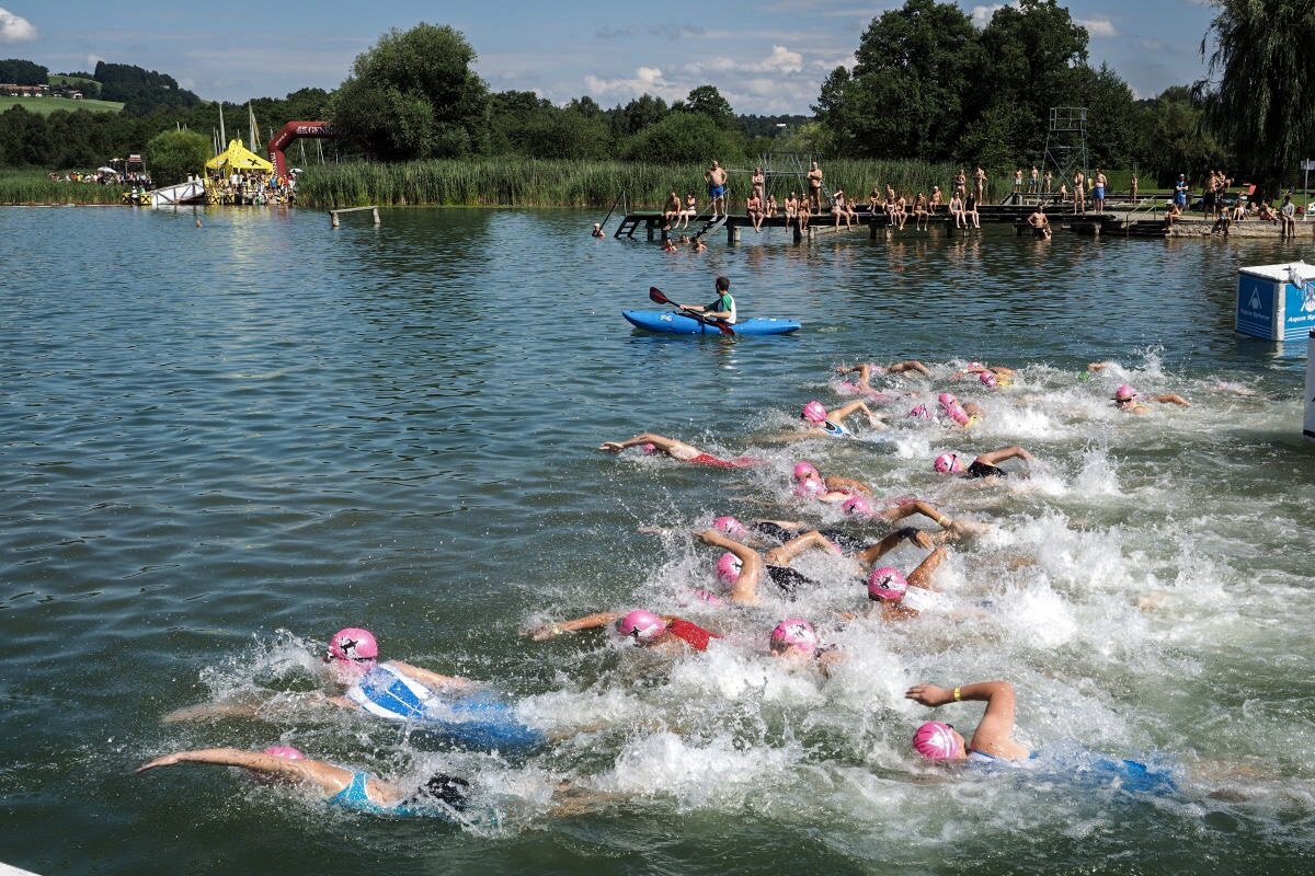 Start zum Trumer Triathlon